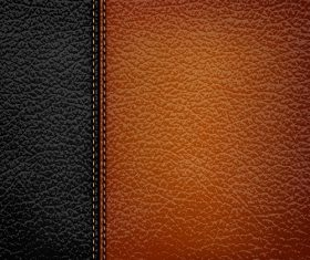 Vertical Black Brown Leather Pattern Vector