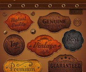 Vintage Leather Collection Vector