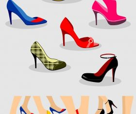 Women's Fashionable Shoes With Box Vector