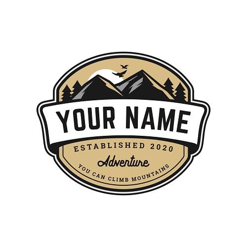Adventure Mountain Badge Logo Template Vector