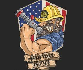 American Heroes Logo Vector