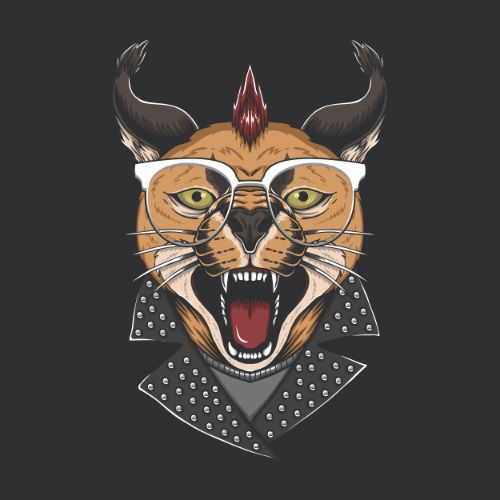 Angry Tiger with Eyeglass Vector