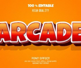 Arcade Editable Text Effect Vector