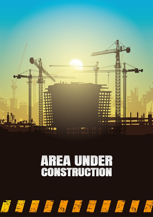 Area Under Construction Silhouette Vector