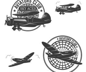 Aviators Club Logo Vector