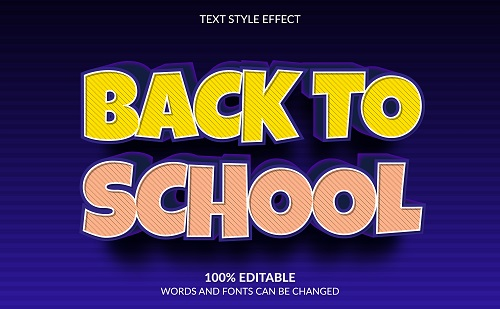 Back to School Font Background Vector