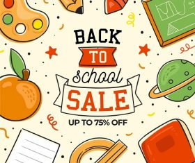 Back to School Math Icons Background Vector