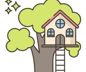 Backyard Tree House vector