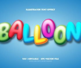 Balloon Text With Sky Blue Background Vector