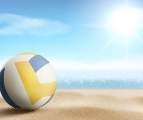 Beach volleyball vector