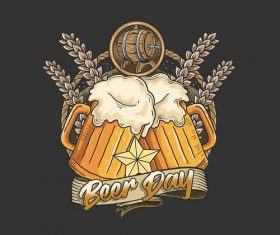 Beer Day Logo Vector