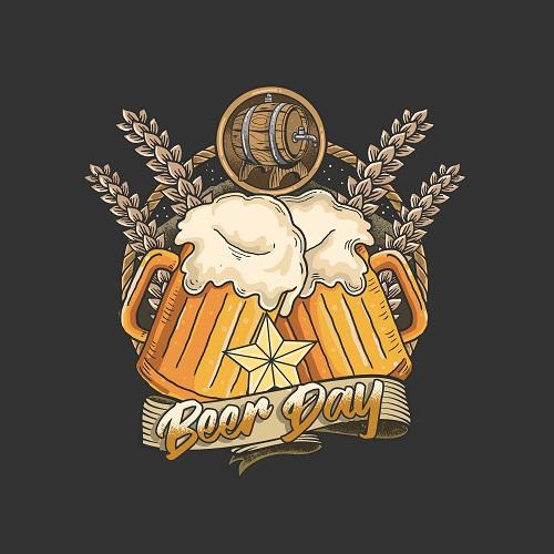 Beer Day Logo Vector