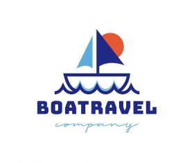 Boat Travel Company Logo Vector