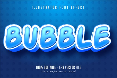 Bubble Text Font Vector