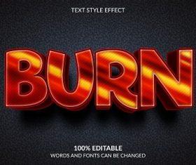 Burn Font Background Vector
