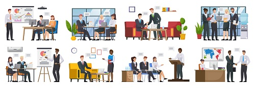 Business People Working Vector