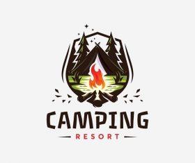 Camping Logo Poster Logo Vector