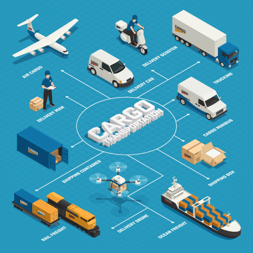 Cargo Vehicles Vector