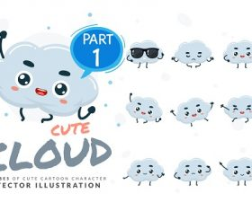Cartoon Images of Cute Cloud Vector