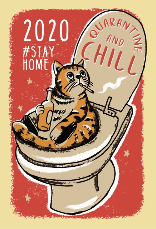 Chill Cat Vector