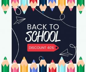 Colored Pencil Back To School Background Vector