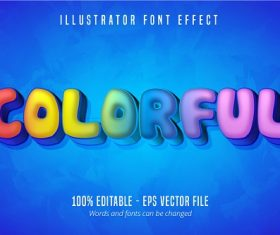 Colorful Text Effect Vector