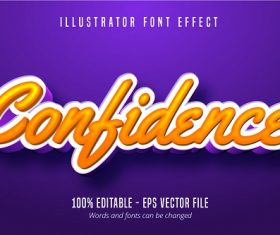 Confidence Calligraphic Font Vector