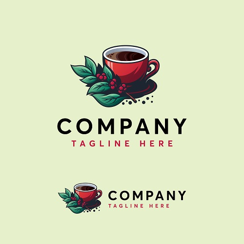 Cup of Coffee Sample Logo Vector