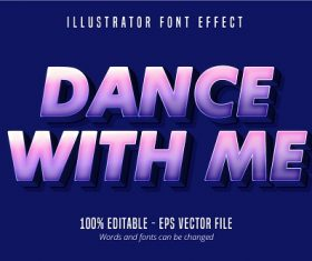 Dance with Text Vector
