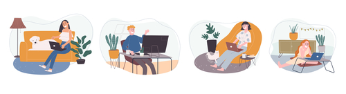 Different home life vector