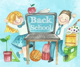 Drawing Back to School Background Vector