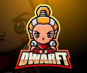 Dwarft Cute Logo Vector