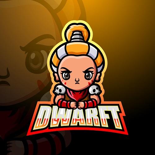 Dwarft Cute Logo Vector