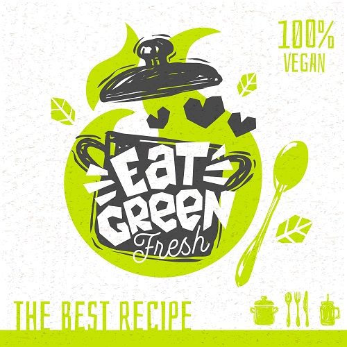 Eat Green Fresh Poster Vector