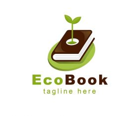 Eco Book Tag Line Logo Vector