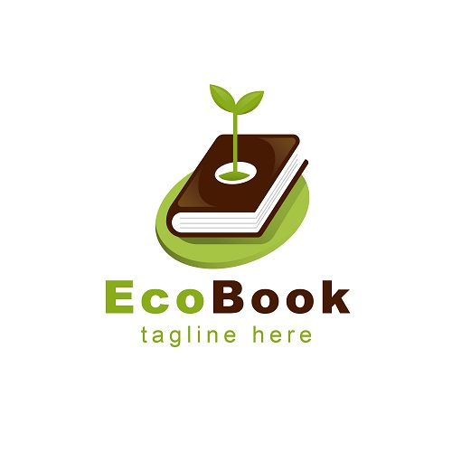 Eco Book Tag Line Logo Vector