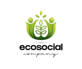 Eco Social Company Sample Logo Vector