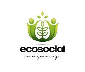 Eco Social Company Sample Logo Vector