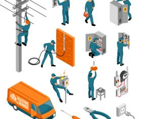 Electrical Works Vector