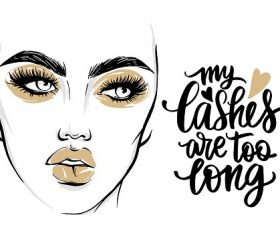 Fashion Poster with Lashes Vector