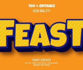 Feast Editable Text Effect Vector