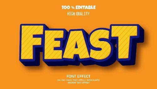Feast Editable Text Effect Vector