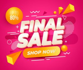 Final sales vector