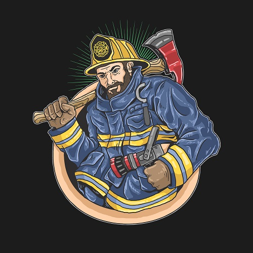 Fire Fighter Icon Vector