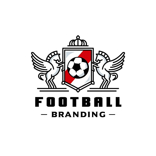 Foot Ball Branding Icon Vector
