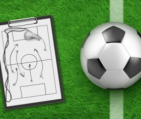Football and tactical guidance vector