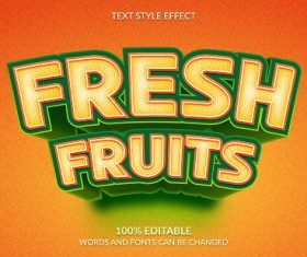 Fresh Fruit Font Background Vector