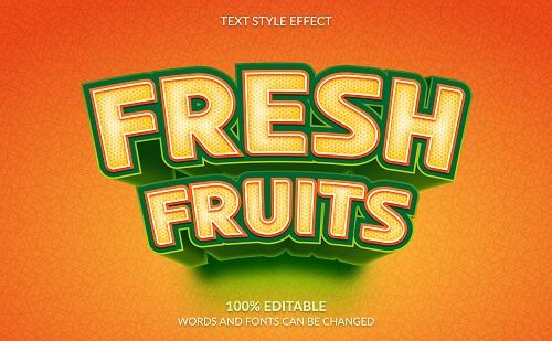 Fresh Fruit Font Background Vector