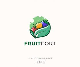 Fresh fruit logo vector