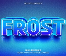 Frost Font Background Vector
